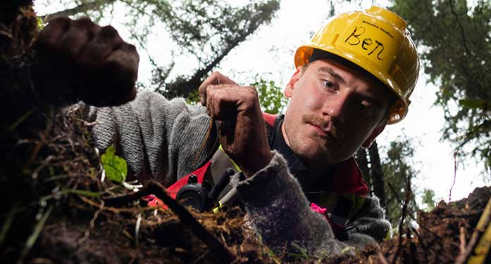 Forestry field school participant Ben Strelkov